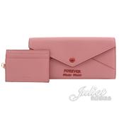 茱麗葉精品【全新現貨】MIU MIU 5MH379 Forever 信封型附證件卡扣式長夾.玫粉