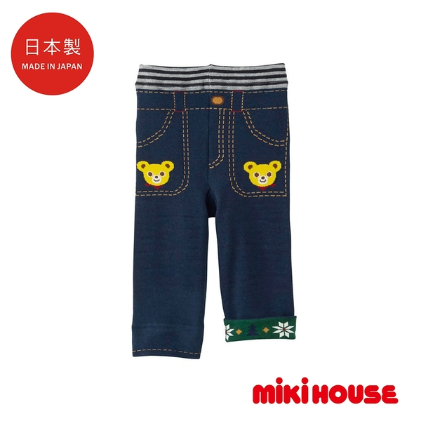 MIKI HOUSE 日本製 普奇熊反摺包屁褲
