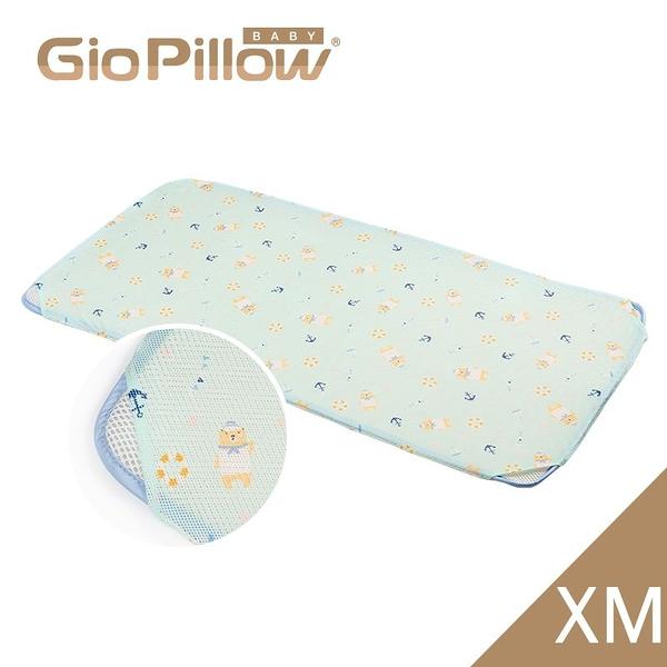 韓國GIO Kid Mat 智慧二合一有機棉超透氣嬰兒床墊(XM)水手熊藍[衛立兒生活館]