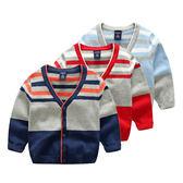 【現貨只有三件】新款中小童 男女童毛衣外套 V領純棉毛線衫
