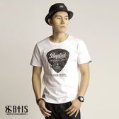 【BTIS】吉他Pick 圓領T-shirt / 白色