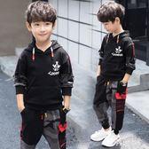大碼男童套裝 2019新款中大童兒童裝春秋季衛衣兩件套男孩運動潮衣 js24817『科炫3c』