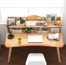 電腦桌 式桌簡易北歐書桌書架組合簡約家用學生臥室寫字學習小桌子TW【快速出貨八折搶購】