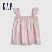 Gap女幼時尚條紋小飛袖休閒上衣539939-糖果色條紋