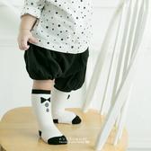 童襪 黑白小領結兒童中筒襪