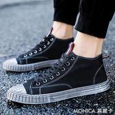 韓版男士高筒鞋潮流透氣帆布鞋男鞋子潮鞋日常休閒鞋短靴高筒 莫妮卡小屋