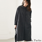 「Winter」燈芯絨開襟連身洋裝 - Green Parks