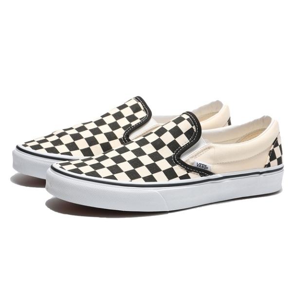 VANS 休閒鞋 CLASSIC SLIP-ON 黑 白 棋盤格 經典款 懶人鞋 男女 (布魯克林) VN000EYEBWW