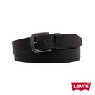 Levis 男款 皮帶 / 質感金屬釦 / 經典雙馬壓紋皮環 / 黑