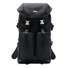 deya - 天生莊重系列 袋蓋束口後背包-黑