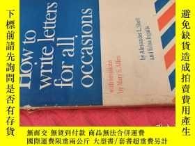 二手書博民逛書店【英文原版】How罕見to Write Letters for All Occasions( 如圖)Y2563