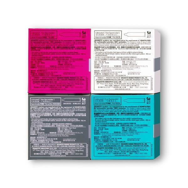 《蘇菲雅情趣用品》OKAMOTO 日本岡本‧SK衛生套(3入)4合1裝