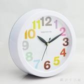 創意簡約學生床頭靜音大鬧鐘 經典時尚可愛卡通兒童時鐘表 zh6298【歐爸生活館】