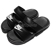 Nike 涼拖鞋 Wmns Benassi Duo Ultra Slide 黑 白 女鞋 男鞋 雙帶 拖鞋 GD【ACS】 819717-010