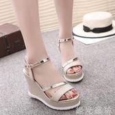 厚底鞋 涼鞋女韓版軟妹平底厚底chic原宿風時尚坡跟高跟女鞋子 綠光森林