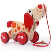 木制质动物拖拉玩具嬰幼兒童寶寶木制質動物拖拉玩具 igo全館免運
