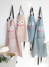 【三色】親子款呆萌表情圍裙 有口袋好收納 廚房工作服 兒童圍裙 畫畫衣