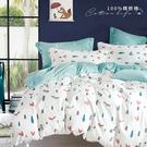 《DUYAN竹漾》台灣製 100%精梳棉雙人床包三件組-松鼠之森
