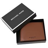 美國正品 MICHAEL KORS 專櫃男款 小牛皮六卡短夾禮盒組-焦糖色【現貨】