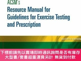 二手書博民逛書店ACSM s罕見Resource Manual for Guidelines for Exercise Testi