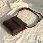 側背包韓版設計包女新款復古小方包 網紅小黑包簡約側背斜背包 魔方數碼館