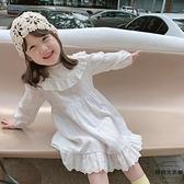 女童裙子兒童洋裝春秋裝寶寶洋氣連身裙公主裙【時尚大衣櫥】