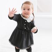 長袖包屁裙 女寶寶 蕾絲領 長袖洋裝 連身裙 洋裝 洋裙 連衣裙 Augelute Baby 50782