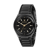 【Maserati 瑪莎拉蒂】TRICONIC簡約三針日期鋼帶腕錶-武士黑/R8853139004/台灣總代理公司貨享兩年保固