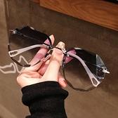 墨鏡 墨鏡女ins2021年新款圓臉韓版潮時尚太陽眼鏡防紫外線大臉顯瘦 韓國時尚週 免運
