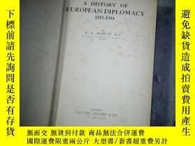 二手書博民逛書店A罕見HISTORY OF EUROPE AN DIPLOM A