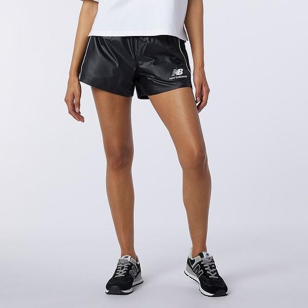 New Balance Athletics Collide 女裝 短褲 休閒 鬆緊帶 拉鍊口袋 LOGO 黑【運動世界】AWS11503BM