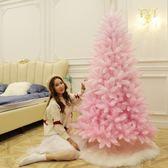 聖誕樹 博林圣誕節套餐裝飾樹1.5米1.8米漸變色粉色圣誕樹直播裝飾品擺件【美物居家館】