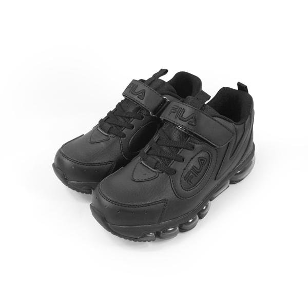 《FILA》兒童 氣墊慢跑鞋 黑 3-J814U-000
