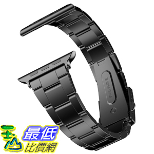 錶帶 JETech Replacement Band Apple Watch 38mm Series 1 2 3 with Metal Clasp Wrist Strap Black