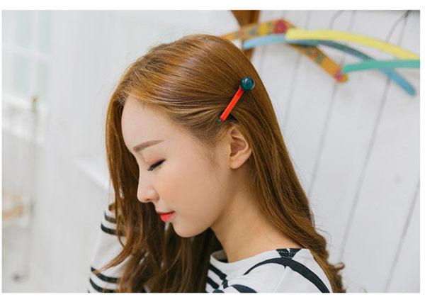 【O-ni O-ni】韓版女性亞克力髮夾圓球糖果型款式鴨嘴夾S925-41灰色