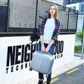 行李箱 迷你登機箱18寸行李箱包女士24小型旅行箱子商務拉桿箱男20寸韓版 俏女孩