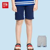 JJLKIDS 男童 拼接透氣純棉五分休閒褲(2色)