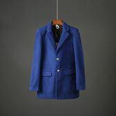 ( 衝量)秋 男士風衣外套 修身毛呢大衣百搭青年男裝呢子外套潮1806