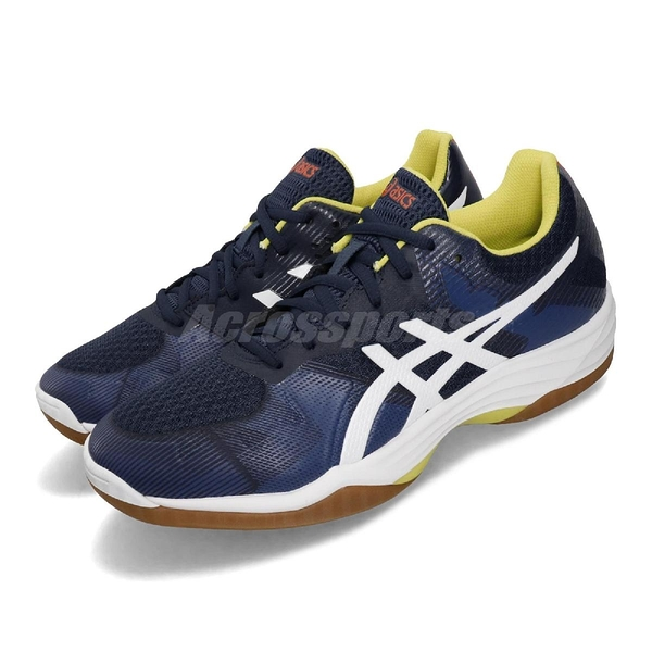 Asics 排羽球鞋 Gel-Tactic 藍 白 男鞋 運動鞋 【ACS】 1071A031400