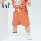 Gap嬰兒 布萊納系列 活力純棉運動短褲 702136-橙色
