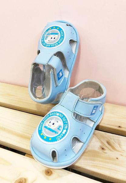 【震撼精品百貨】Shin Kan Sen 新幹線~台灣製新幹線正版兒童啾啾涼鞋-淺藍色(12.5~15號)