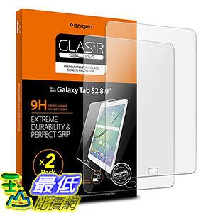 [106美國直購] Spigen B01M1GUUE0 平板螢幕保護貼 Samsung Galaxy Tab S2 8.0 Screen Protector Tempered Glass 2 Pack