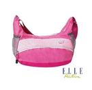 背包族【ELLE Active】Basic系列 休閒風 機動性高的斜背包/側背包(深藍/ 粉紅)