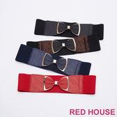 Red House 蕾赫斯-立體蝴蝶結寬版腰封(共4色)