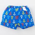 泳褲 日本製 Nishiki 尿布褲泳褲 泳裝 泳衣 (日本製) - 藍底紅黃藍白船錨 M4513