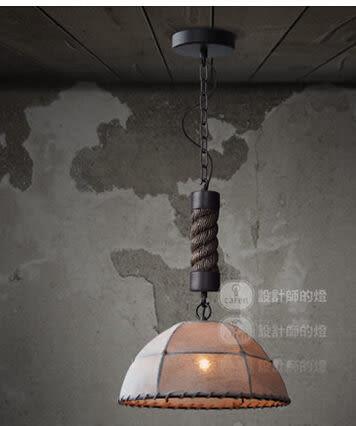 設計師美術精品館設計師的燈美式鄉村複古餐廳客廳吧台咖啡店歐式手工麻繩麻布吊燈