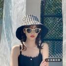 雙面漁夫帽女韓版百搭日系遮陽帽夏季出游網...