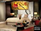 INPHIC-現代中式圓形手繪國畫布藝吊燈古典酒店餐廳臥室客廳書房中式吊燈-直徑60cm_S3081C