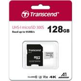 [哈GAME族]免運費 可刷卡●含轉卡●Transcend 創見 128GB 300S MicroSDXC UHS-I U3 V30 A1 記憶卡