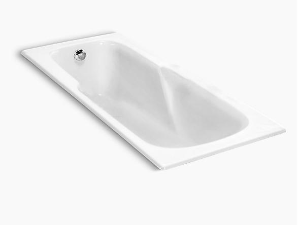 【麗室衛浴】美國 KOHLER Prelude系列 崁入式 鑄鐵缸 K-8266T-0 150*70*43.5CM